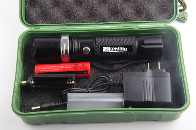 Lumilite LED High Power Rechargeable Zoom Flashlight