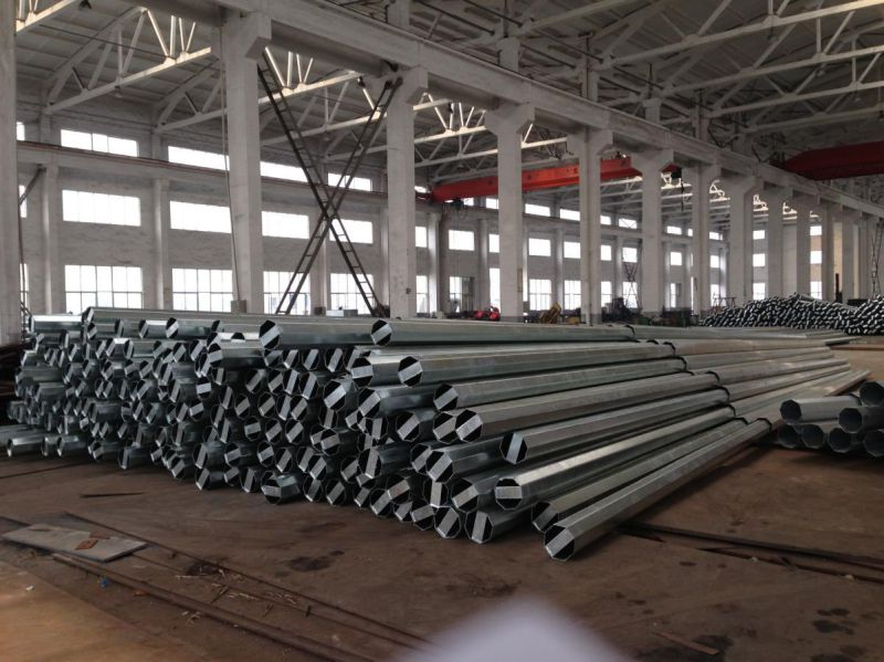 Galvanized and Powder Coated Electric Power Transmission Steel Post