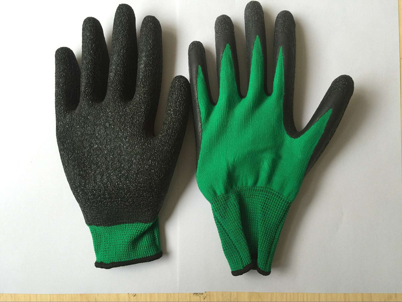 13G Polyester Shell Latex Palm Coated Safety Gloves