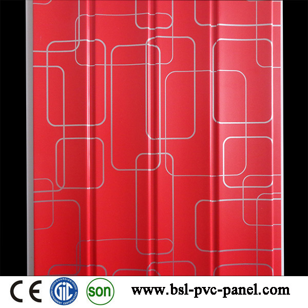 2015 Laminated New Design Pattern 25cm Wave PVC Wall Panel