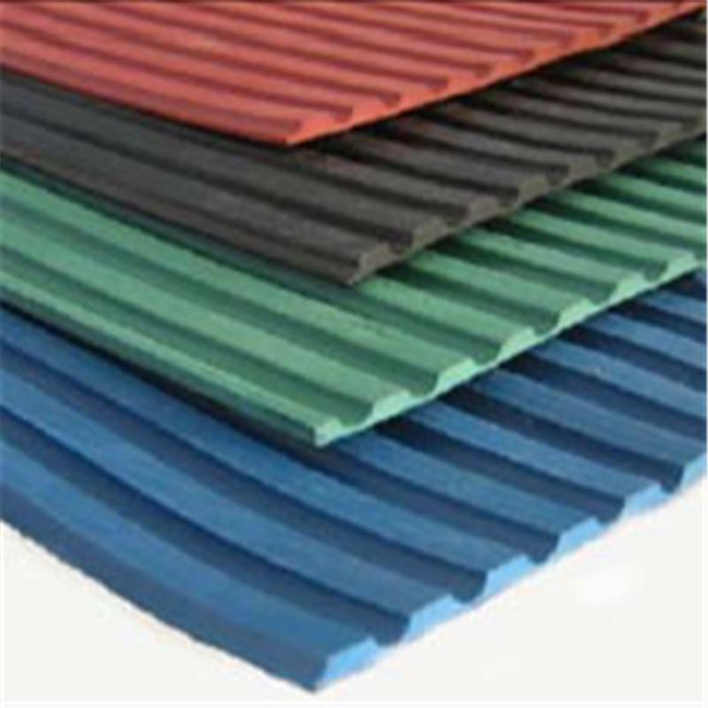 Ribbed Insulation Anti Slip Rubber Sheet