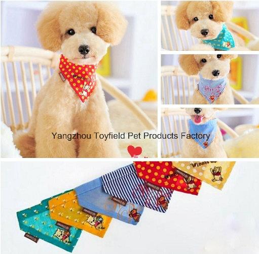 Dog Bandana Collar Cotton Adjustable Pet Bandana