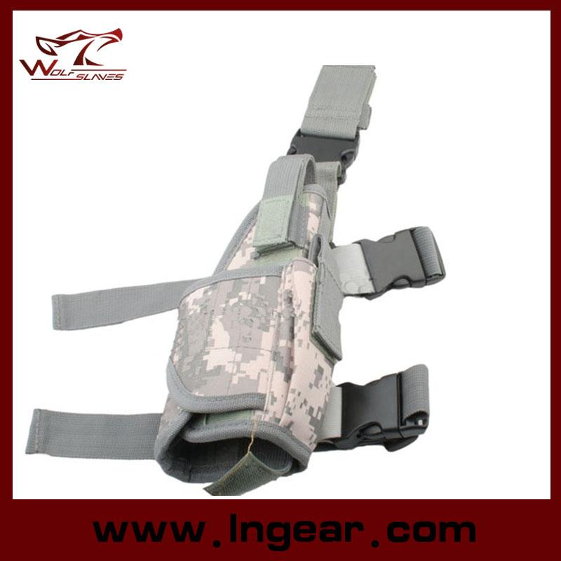 Airsoft Tactical Tornado Universal Pistol Drop Leg Holster for Left Hand Military Thigh Holster Gun Holster Black