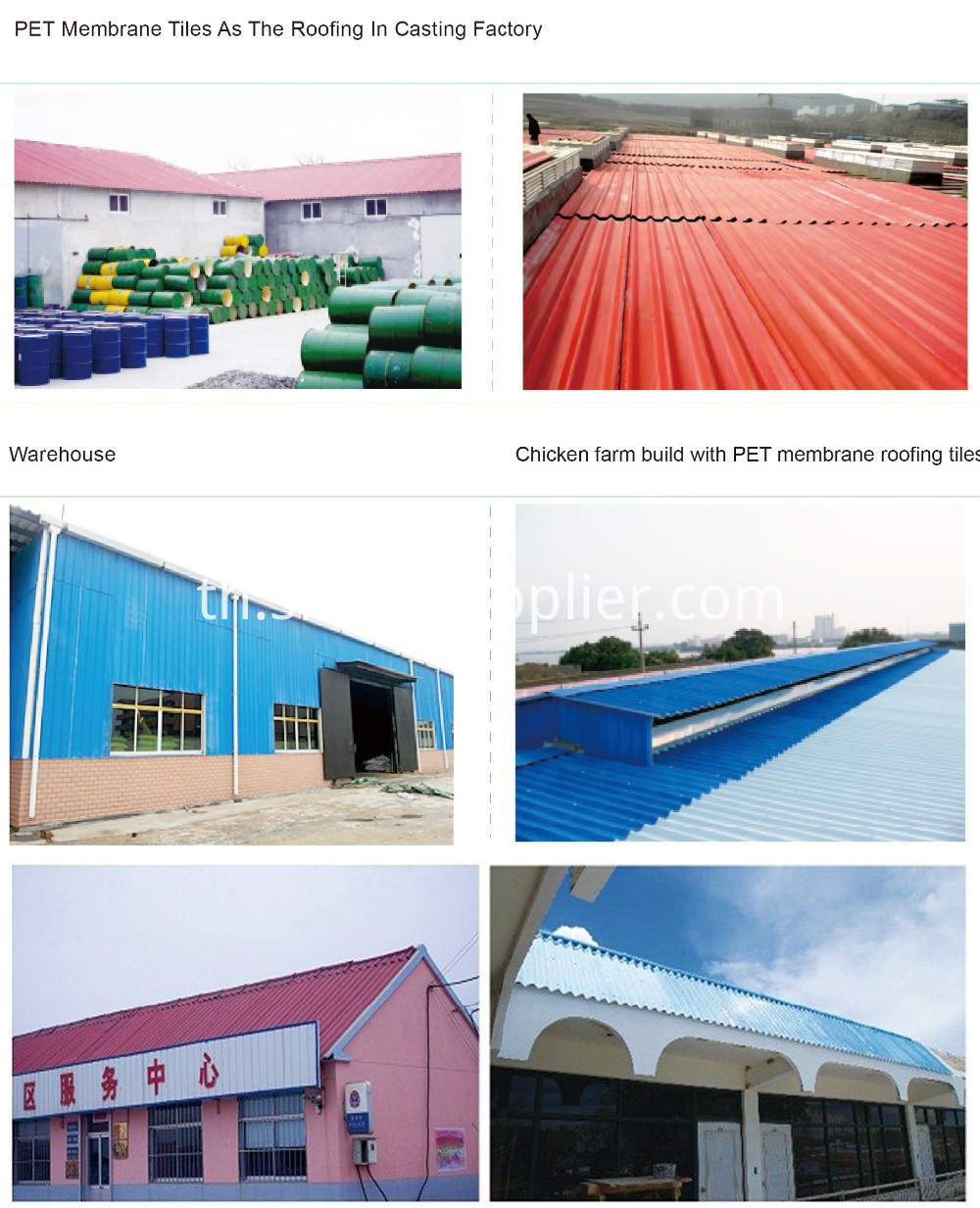 PET Membrane MgO roofing Sheets