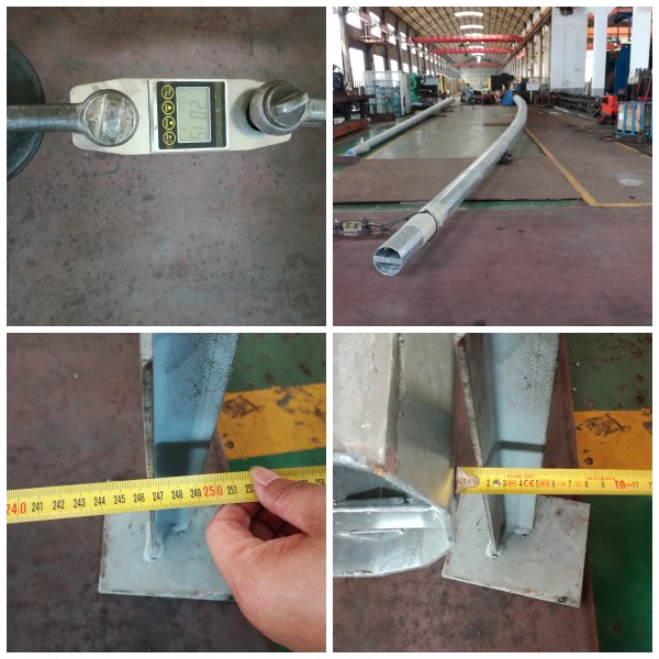 35FT 3mm Thickness Galvanized Electric Utility Pole