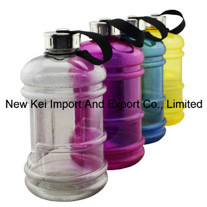 Wide Mouth Lid 2.2L PETG Gym Water Bottle/Plastic BPA Free Water Jug with Handle