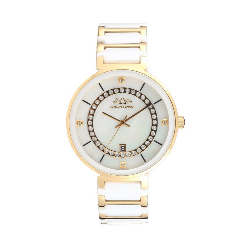 2016 Badatong Hot Selling Quartz Stainless Steel and Ceramic Watch OEM Watches