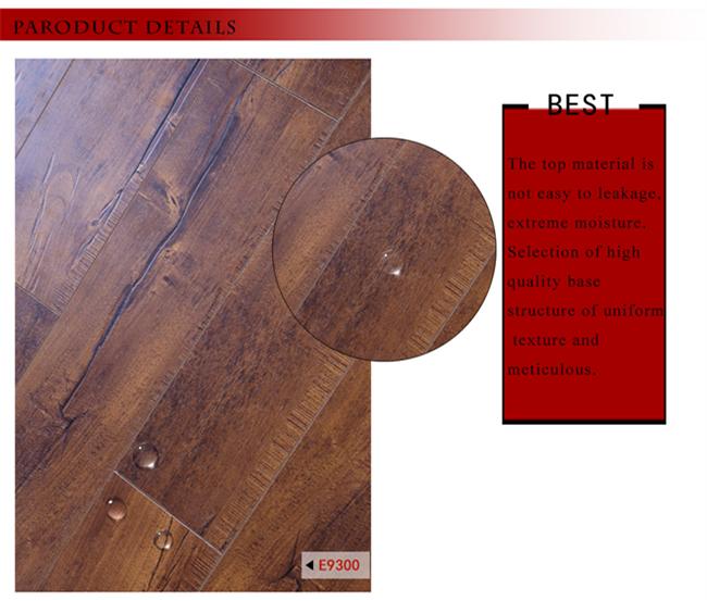 Embossed in Register (EIR) 15mm Wax Coating HDF Laminated Flooring