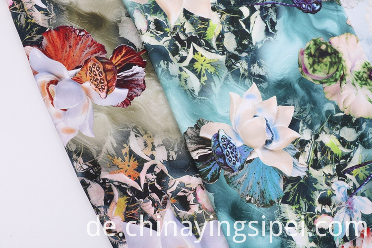 High Quality Woven Flower Rayon Dyed Printed Satin