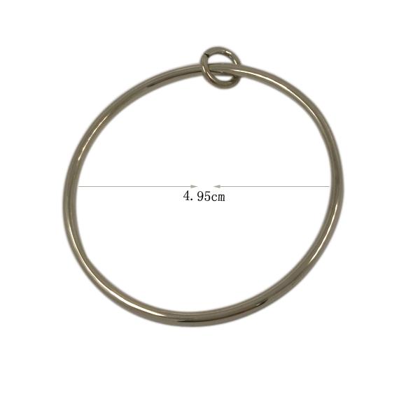 Garment Ornament Fashion Large Metal Ring Zipper Pull