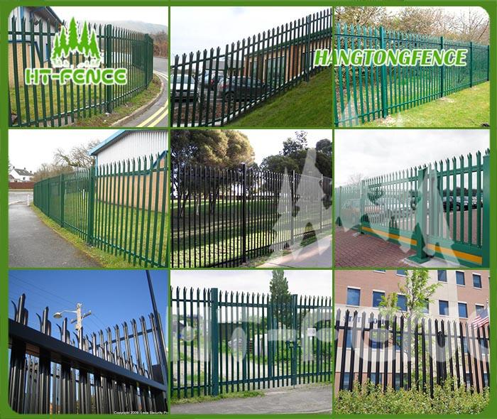 Powder Coating Steel Palisade Fence