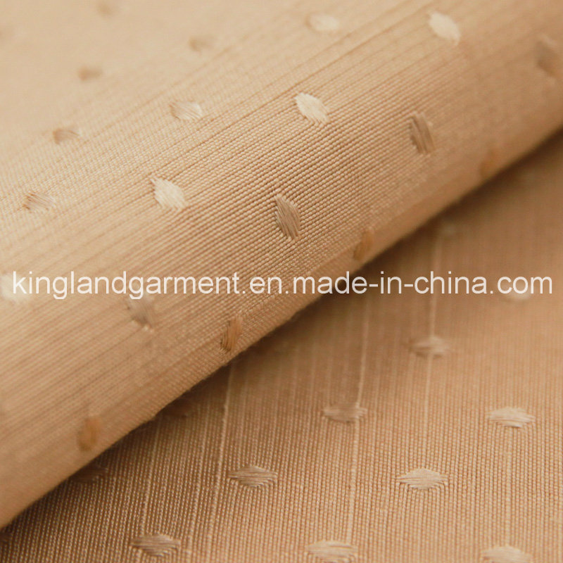 Polyester Home Textile Inherently Flame Retardant Fireproof Jacquard Brown Dots Sofa/Curtain Fabric