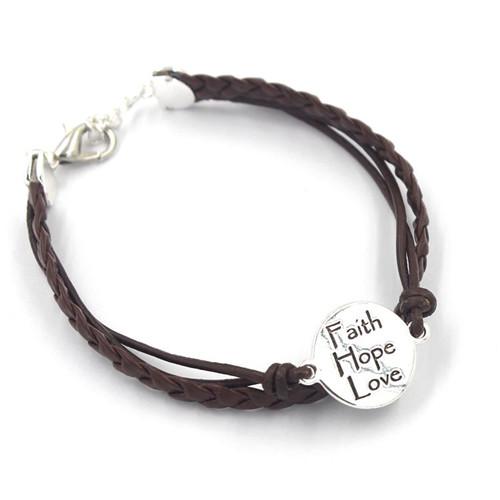 Jewelry Wholesale Leather Bracelet Adjustable Bangle