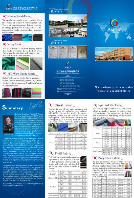 100%Cotton Denim Yarn Dyed Fabric for Fashion Shirt Garment (GLLML225)
