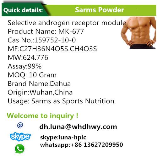 Ibutamoren Mesylate / Sarms as Sports Nutrition Mk 677