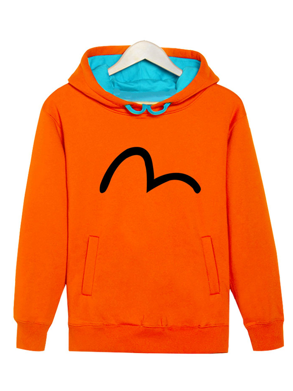 Simple Graphic Pullover Loose Style Warm Men Hoodie Sweat Shirt