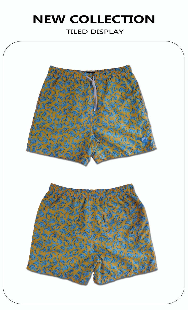 Polyester Digital Print Brief Mesh Futter zum Schwimmen Quick Dry Water Repellent Man's Swimming Short