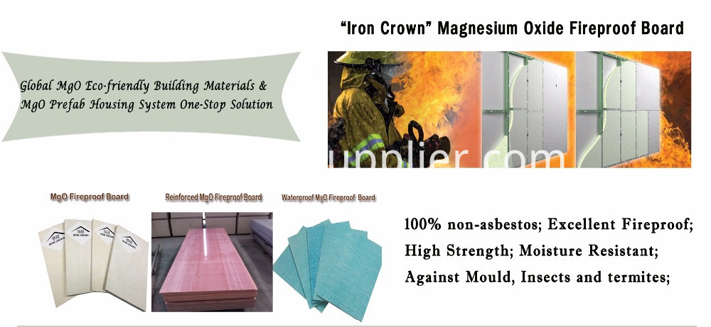 Impact Resistant Waterproof Iron Crown MgO Board