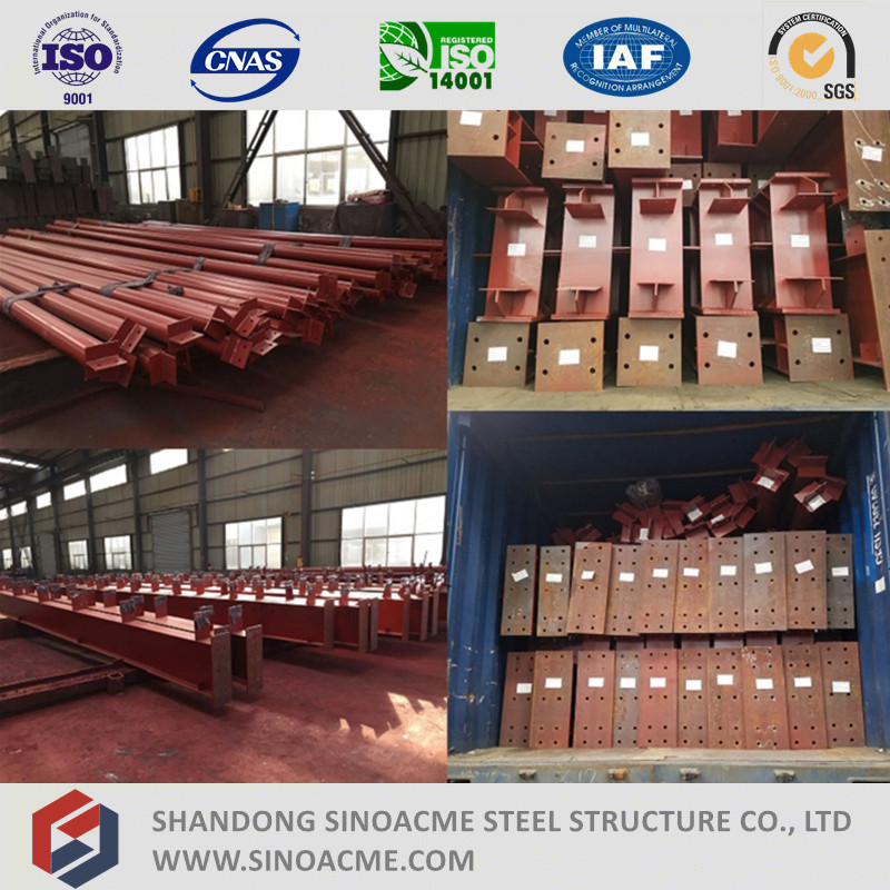 Heavy Steel Structure Workshop with Canopy