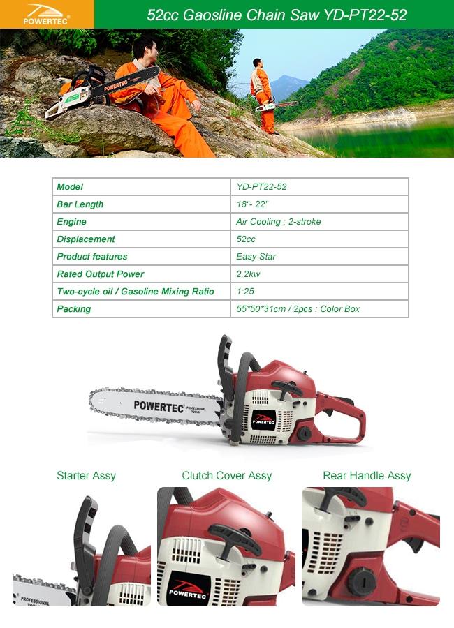 Powertec 2.2kw Gasoline 5200 Chainsaw