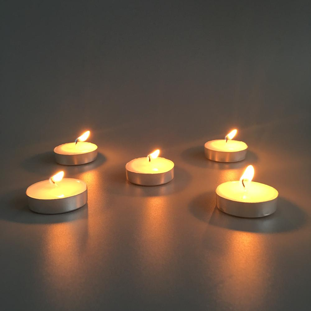 Burning Tealights Candle