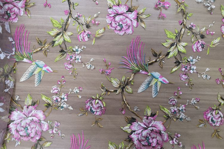 Embroidery Tulle Lace Fabric