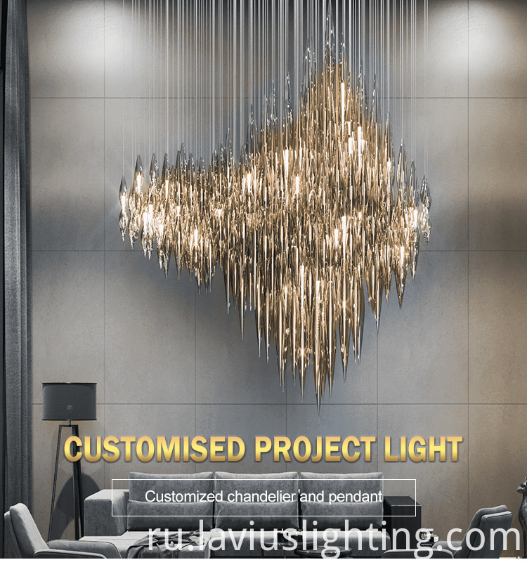 coffee shop crystal led chandelier