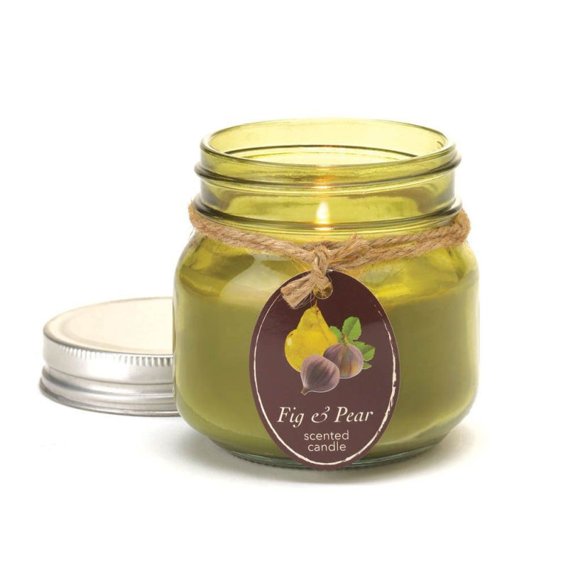 Multi-Colored Decorative Scented Soy Wax Glass Jar Candle