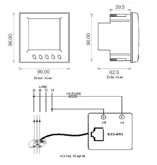 Ex8-013 Three Way Single Phase Power Meter