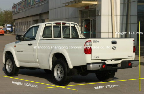 China 4X2 Diesel Single Cabin Pickup (gasoline is available)