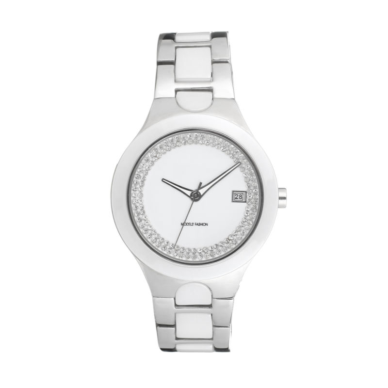 2017 Badatibg Hot Selling Quartz Stainless Steel and Ceramic Watch Lady OEM Watches