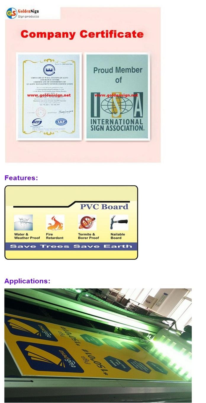 Shanghai Manufacturer 1-5mm PVC Foam Sheet for screen Printing Material