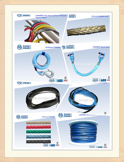 BV Approved 12 Strand UHMWPE Mooring Rope (XCMAX)