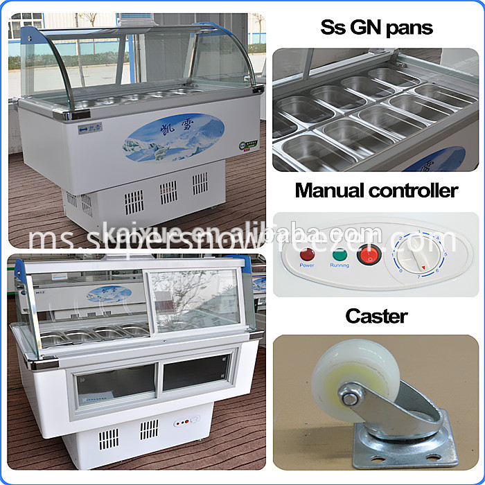 Stainless Steel Commercial Refrigerator Freezer