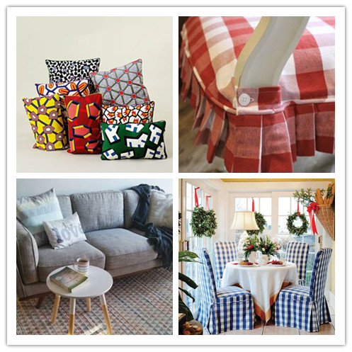 Colorful Polyester Linen Decorated Customized Pillows Sofa Fabric