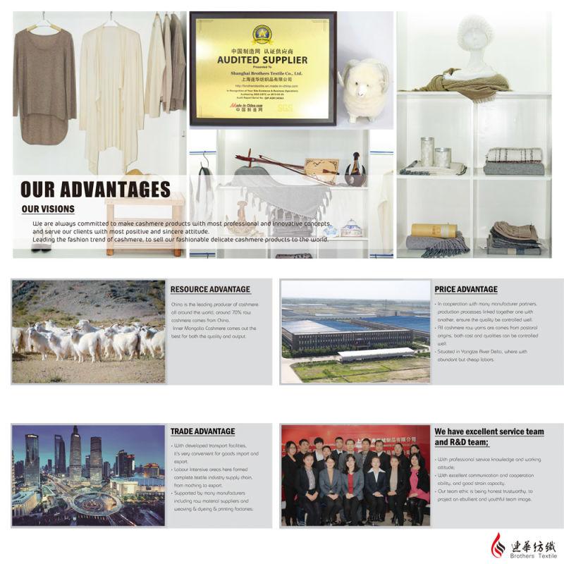 Men′ S Fashion Cashmere Blend Sweater 17brpv080