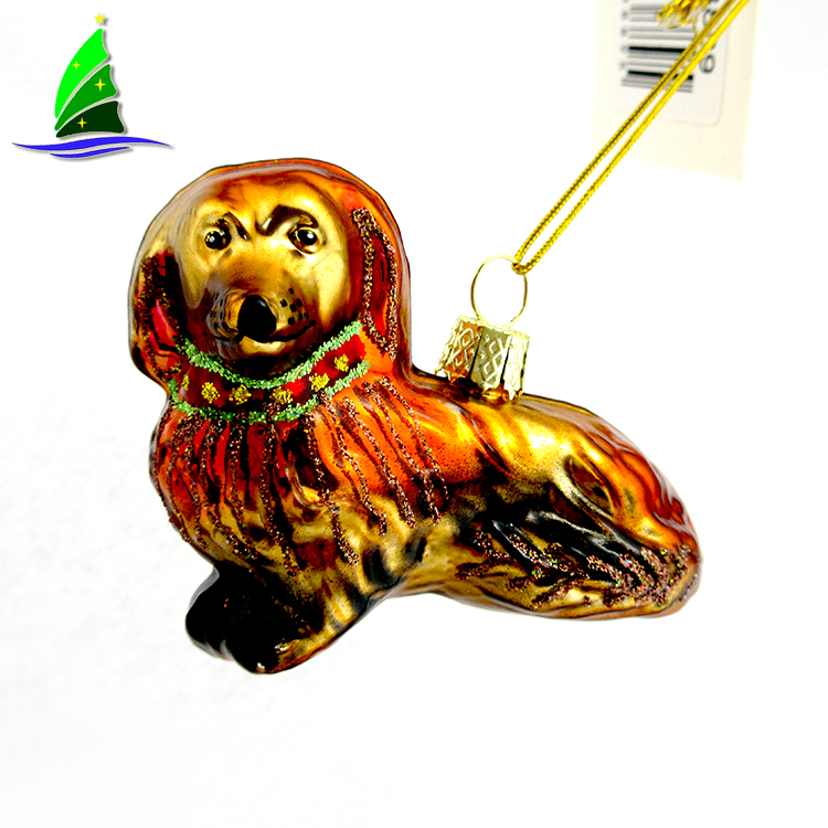 Colorful Mini Glass Dachshund Pendant