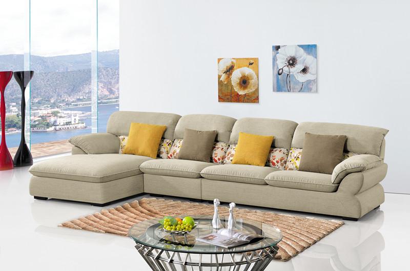 Popular 3 Seater Fabric Corner Sofa Set Living Room Furniture