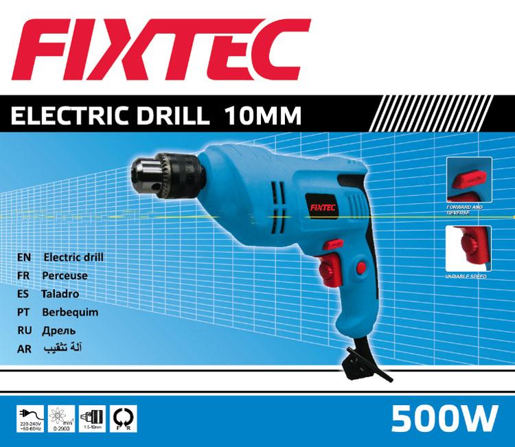 Fixtec 500W Hand Electric Drill Machine Electric Drill