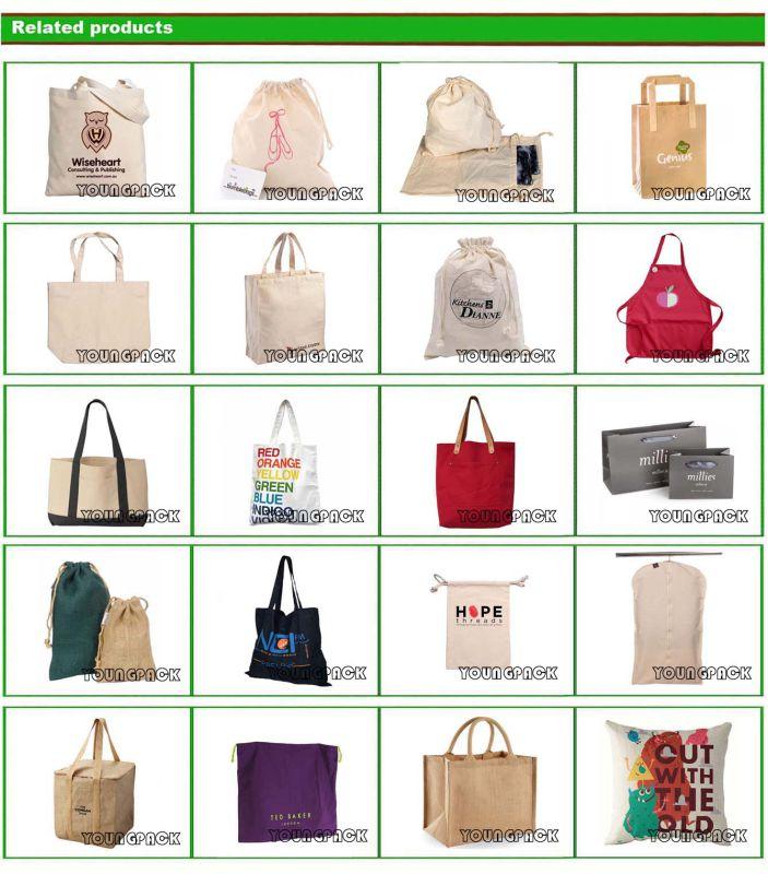 Promotional Reusable Custom Printed Cotton Carrier Bag