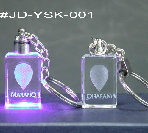 Popular Crystal 3D LED Keychain (JD-YSK)