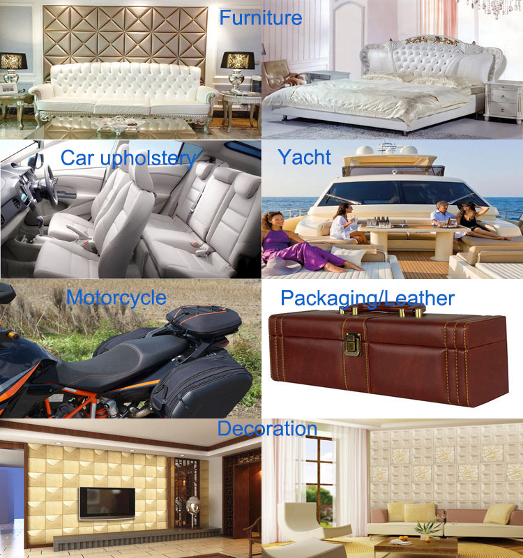 Dongguan Factory Promotion PVC Synthetic Hotel Project Decoration Leather