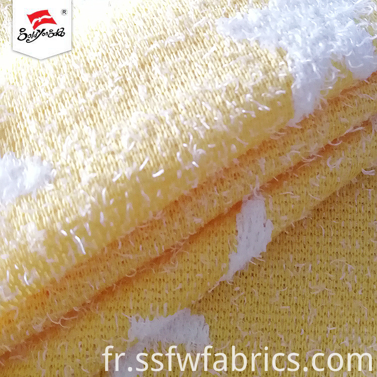Yellow Star Lovely Jacquard Fabric