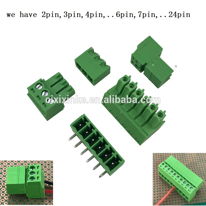 3.81mm pitch PCB fixed pluggable terminal block