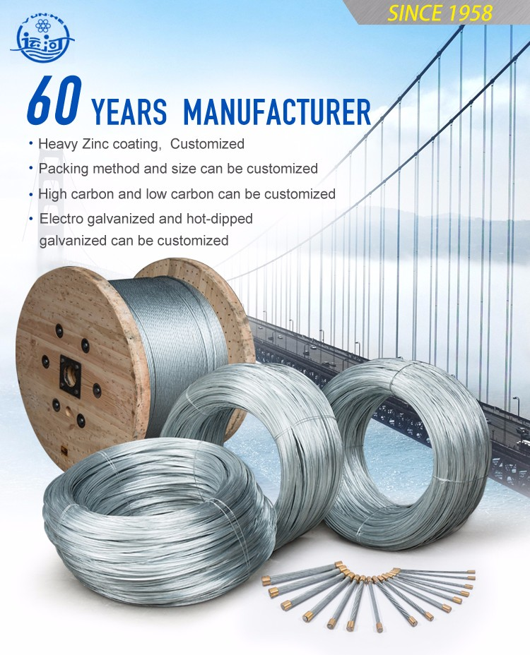 Hot Selling 340-500MPa Low Carbon Zinc Coated Armowring Cable 0.9mm Steel Wire