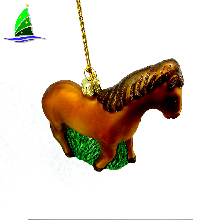 Glass Horse Ornaments