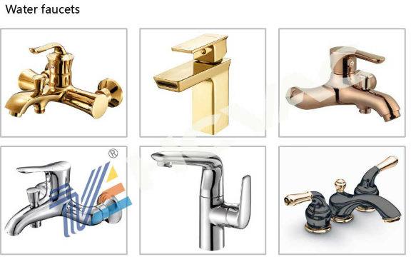 Bathroom Furniture Faucet PVD Titanium Coating Machine Vacuum Chamber