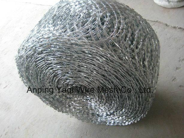 China Supplier Galvanized Razor Barbed Wire High Quality