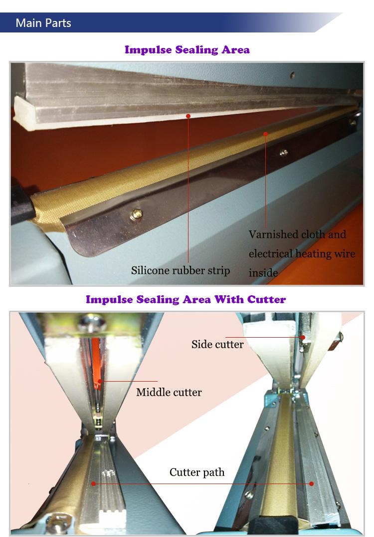 Mini Hand Sealer 100mm 200mm 300mm Sealing Length Manual Pressure Machine for Powder and Food