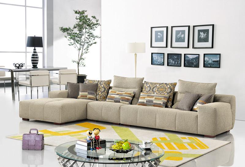 Sofa Set for Living Room Furniture Fabric Corner Sofa